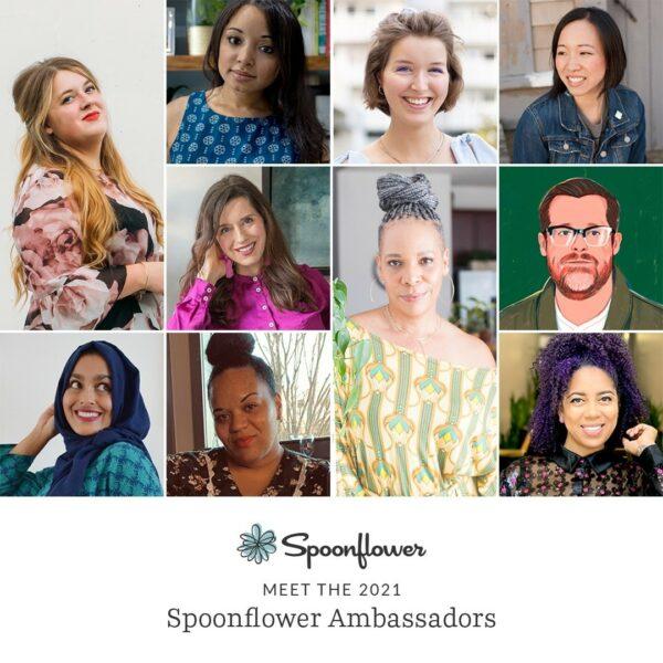 Headshots of 10 Spoonflower Ambassadors
