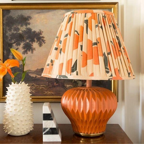 Beige lampshade with oranges