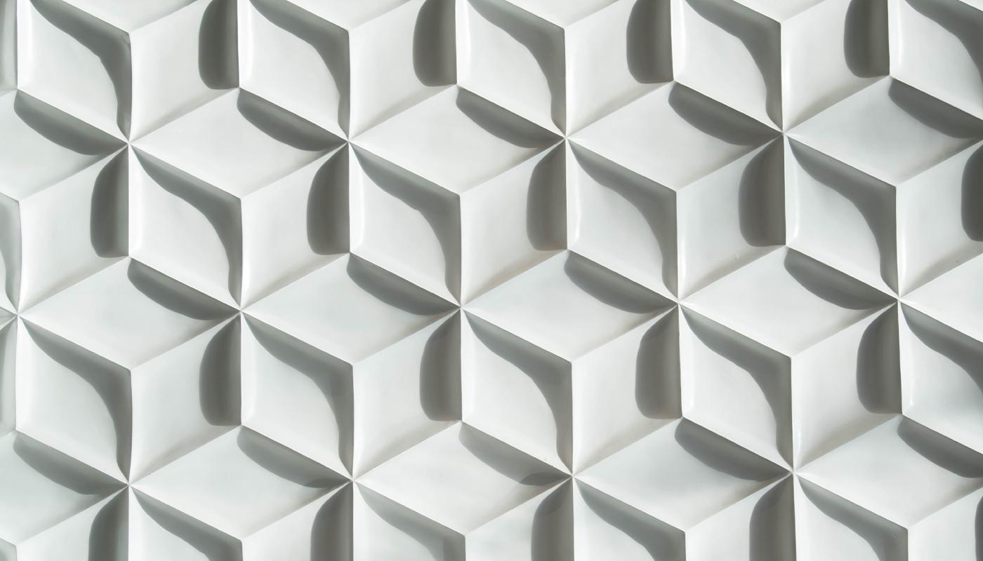 Grey geometric cube pattern