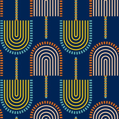 Surface pattern design featuring abstract geometric shapes