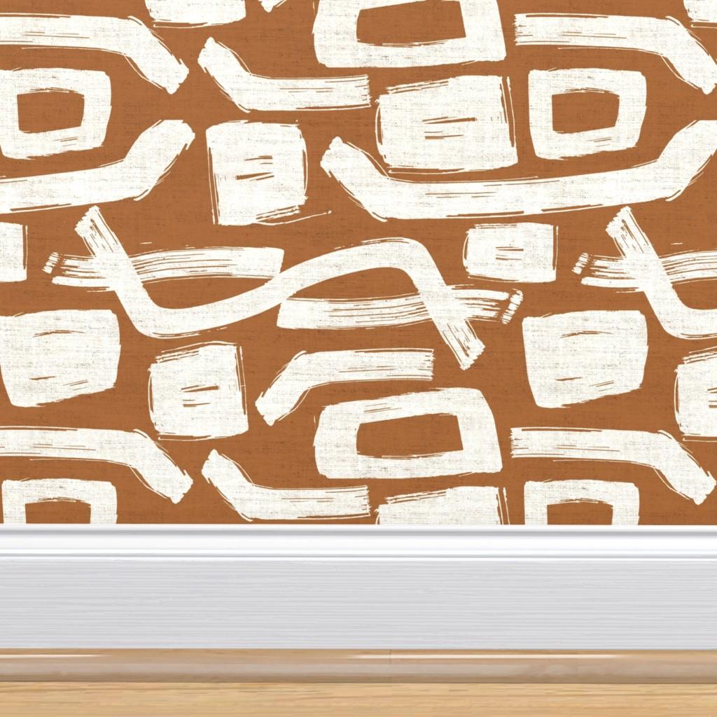 terracotta wallpaper pattern