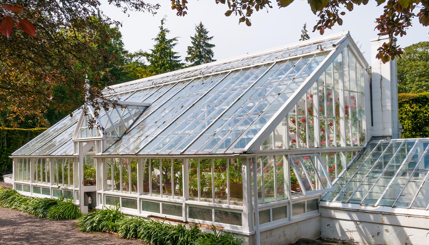 Glass Victorian greenhouse
