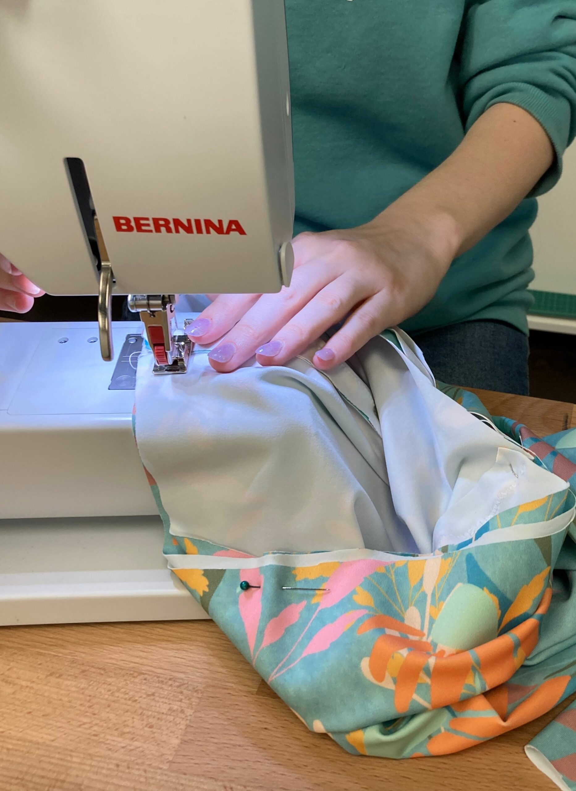 Sewing waistband to legs