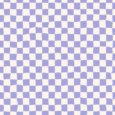 Fabric design with lilac and white checks