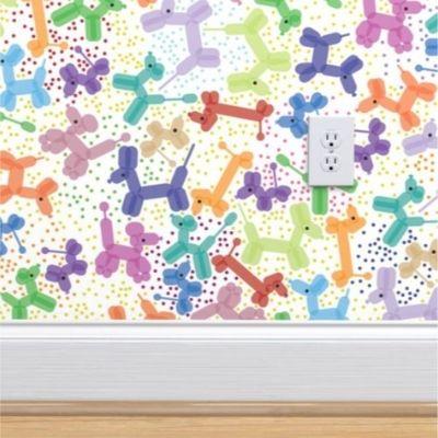 Wallpaper with balloon animal design