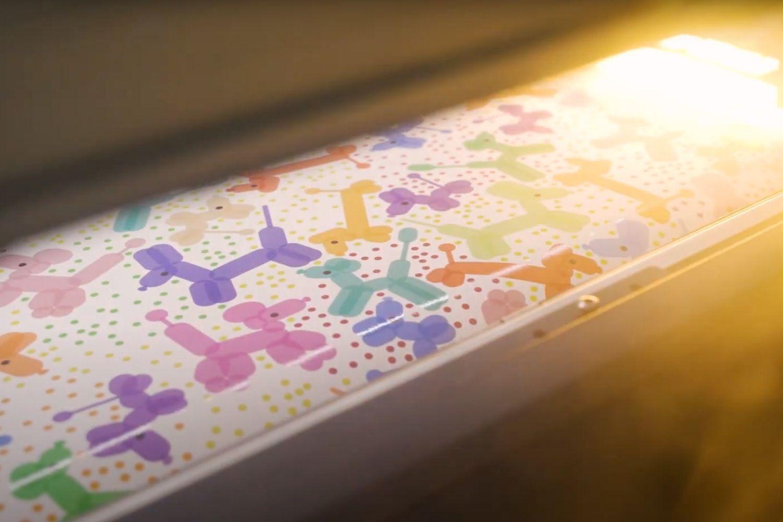 Balloon animal wallpaper under printer light