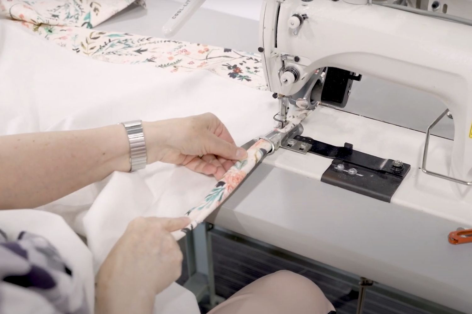 Sewing curtains with a sewing machine